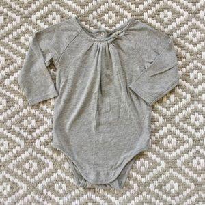 Oshkosh Long Sleeve Sparkly Gray Onesie